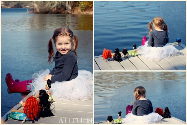 avery on the dock