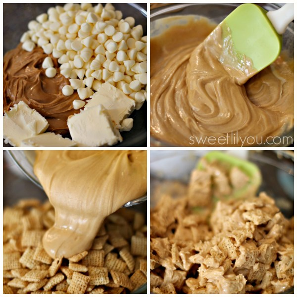 white chocolate and peanut butter