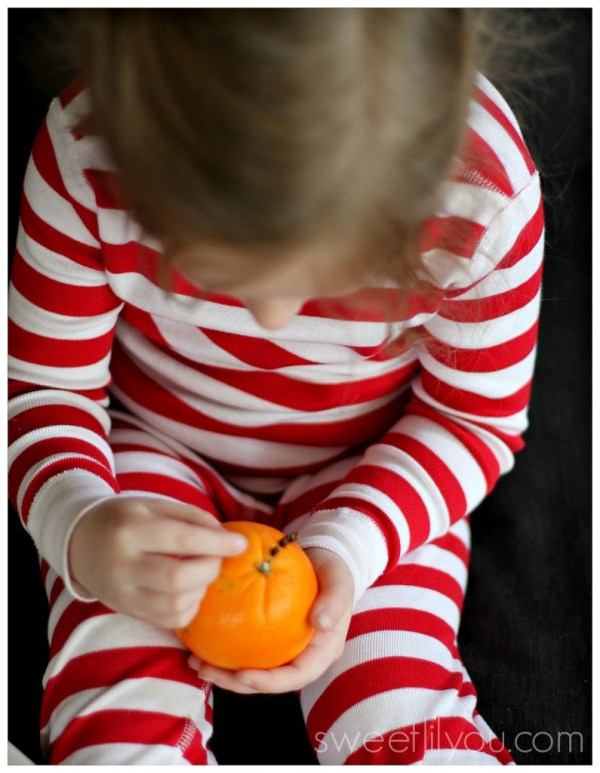 orange pomander easy craft for kids