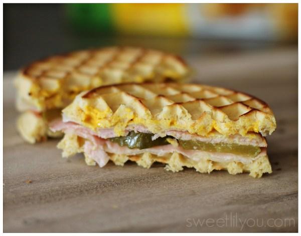 Cuban Grilled Cheese Waffle Sandwich