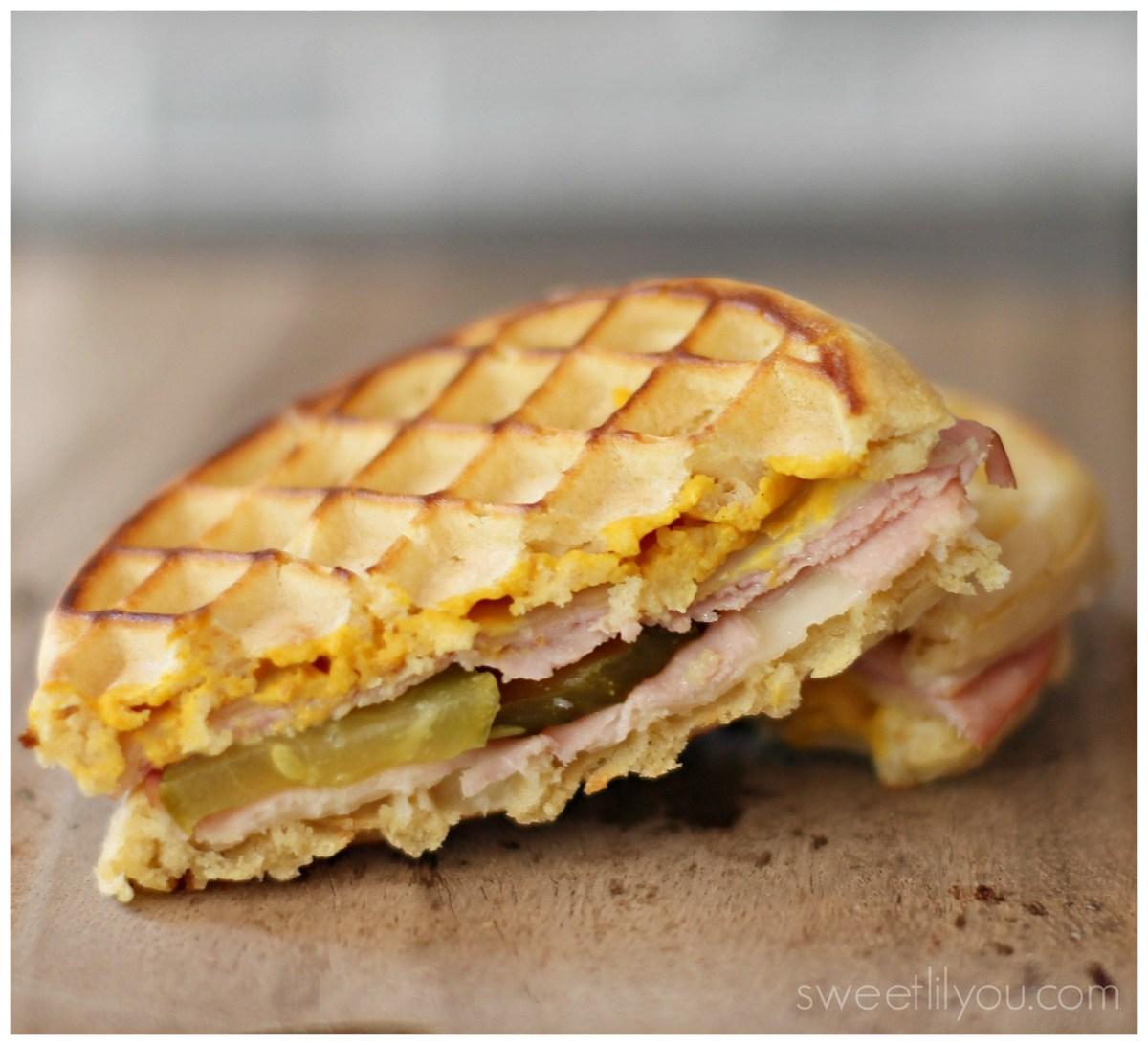 Cuban Waffle Grilled Cheese Sandwich