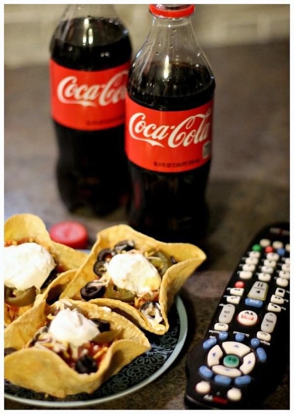 Coca Cola and snacks
