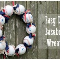 Easy Baseball Wreath Tutorial