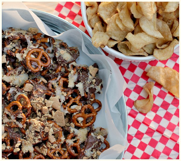 s'mores pretzels and chips