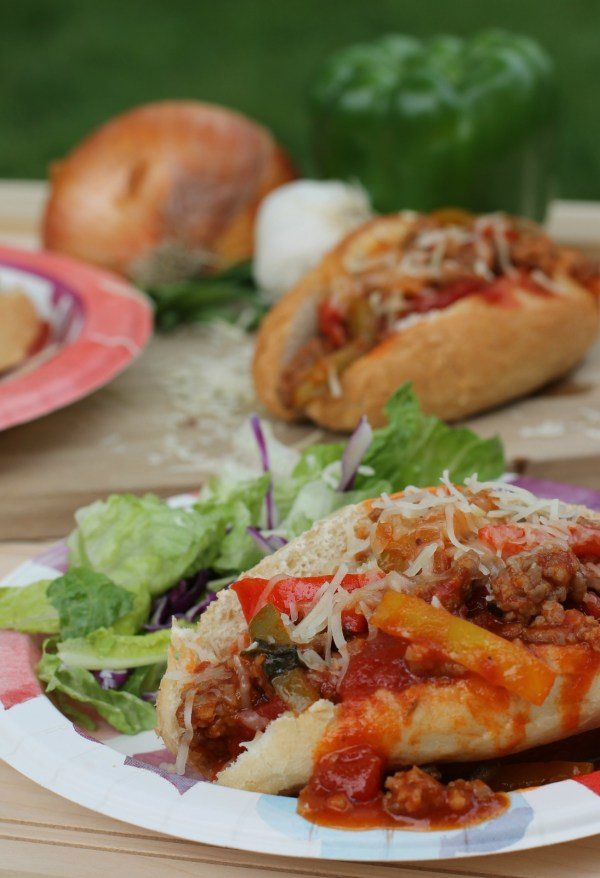 Sausage and Peppers Sloppy Joes Summer Food