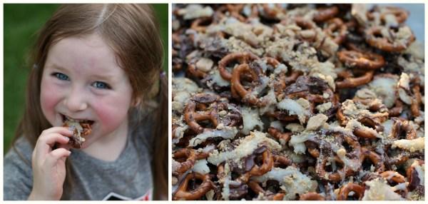 Yummy Smores pretzels - summer snack