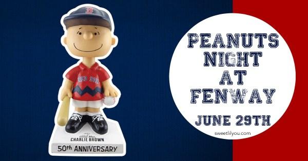 Peanuts Night Fenway Park Boston Red Sox