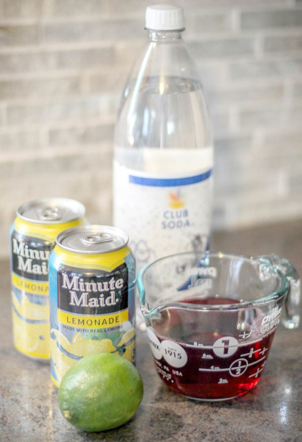 Ingredients for Cranberry Limeade