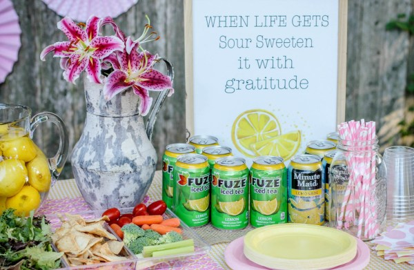 Lemonade party snacks