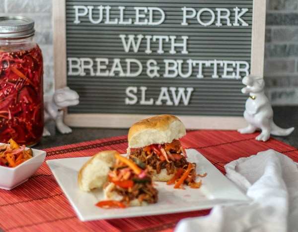 Pulled Pork with Bread & Butter Slaw