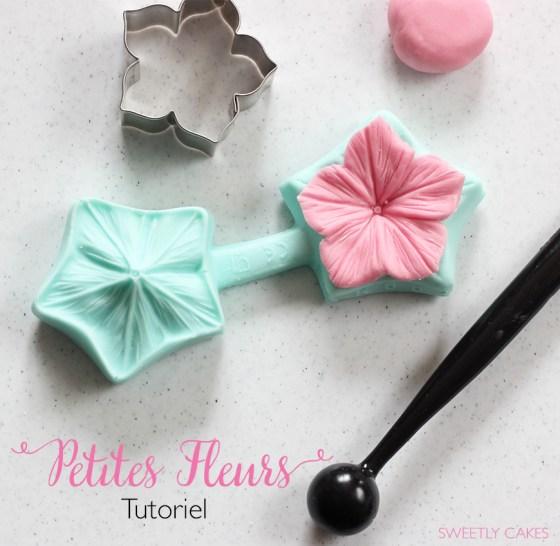 tutoriel petites fleurs en pâte à sucre