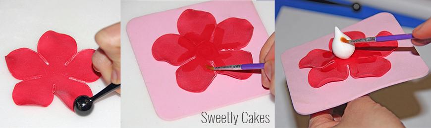 tuto rose facile en pâte à sucre