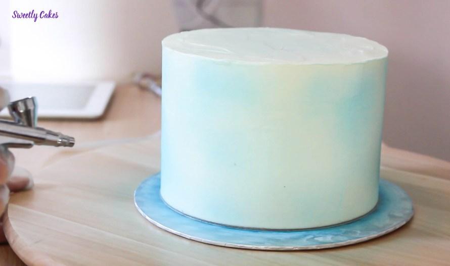 Galaxie cake tutoriel