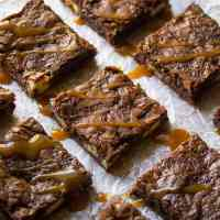 SALTED CARAMEL TWIX BROWNIES