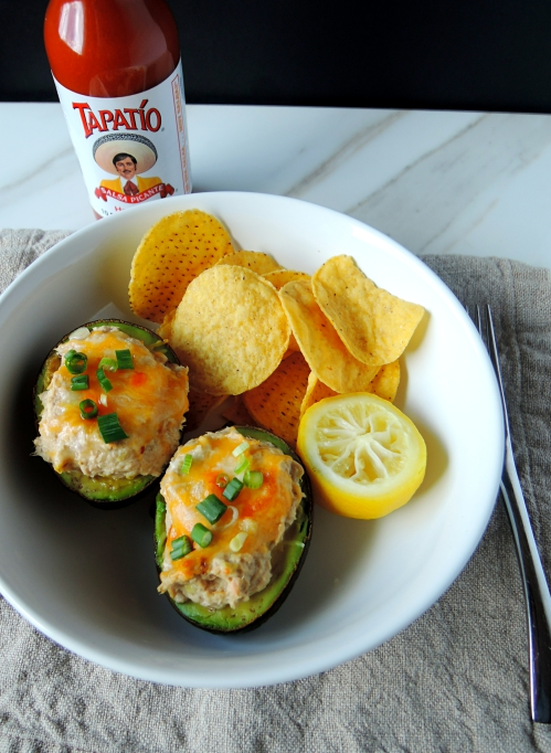 Cheesy Tuna Stuffed Avocados {gluten-free, vegetarian, low carb and ...