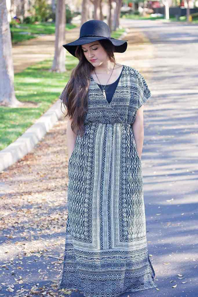 Front view of the Designer Stitch Gypsy PDF Sewing Pattern