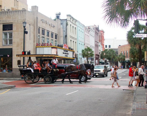 king street view in front of theater