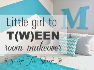 Little girl to T(w)een room makeover