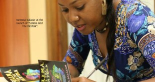 Vanessa Salazar at launch of Selima and the Merfolk, photo caribbeanbooks.org, literature, writers, in sweet t&t for sweet tnt magazine in Trinidad and Tobago