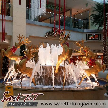 West mall fountain in sweet T&T for Sweet TnT Magazine, Culturama Publishing Company, for news in Trinidad, in Port of Spain, Trinidad and Tobago, with positive how to photography.