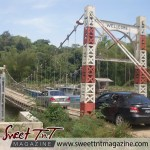 Suspension bridge in Moruga in sweet T&T for Sweet TnT Magazine, Culturama Publishing Company, for news in Trinidad, in Port of Spain, Trinidad and Tobago, with positive how to photography.