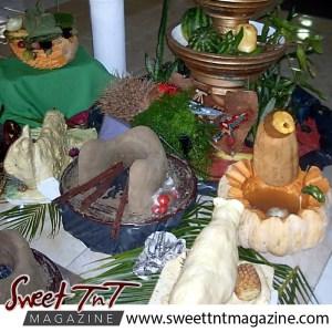Tableland food fiesta. Creative food display.