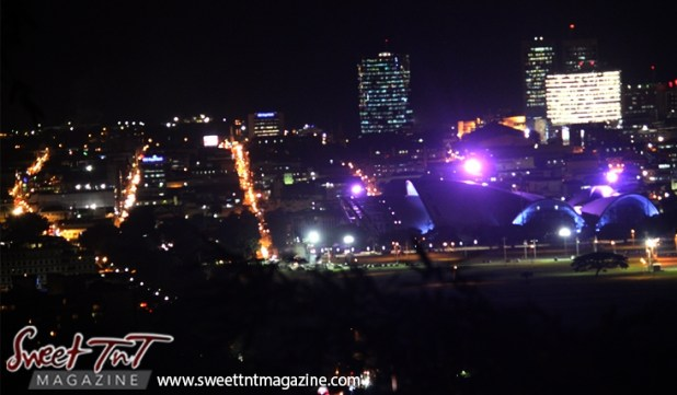 Charlotte, Henry, Frederick Streets in city of Port of Spain from Lady Chancellor Hill in sweet t&t for Sweet TnT Magazine in Trinidad and Tobago for tourists, photography, scenic views, vacation, travel