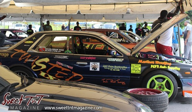 Twisted race car for Drifters in Wallerfield article by Marika Mohammed in sweet T&T for Sweet TnT Magazine, Culturama Publishing Company, for news in Trinidad, in Port of Spain, Trinidad and Tobago, with positive how to photography.