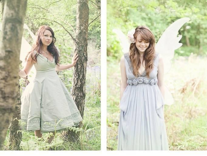 Cottingley fairy inspired woodland wedding styled shoot for Woodland fairy wedding dress