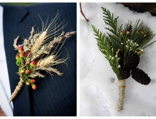 wheat boutonniere