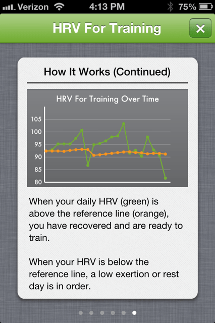 HRV for Training over time