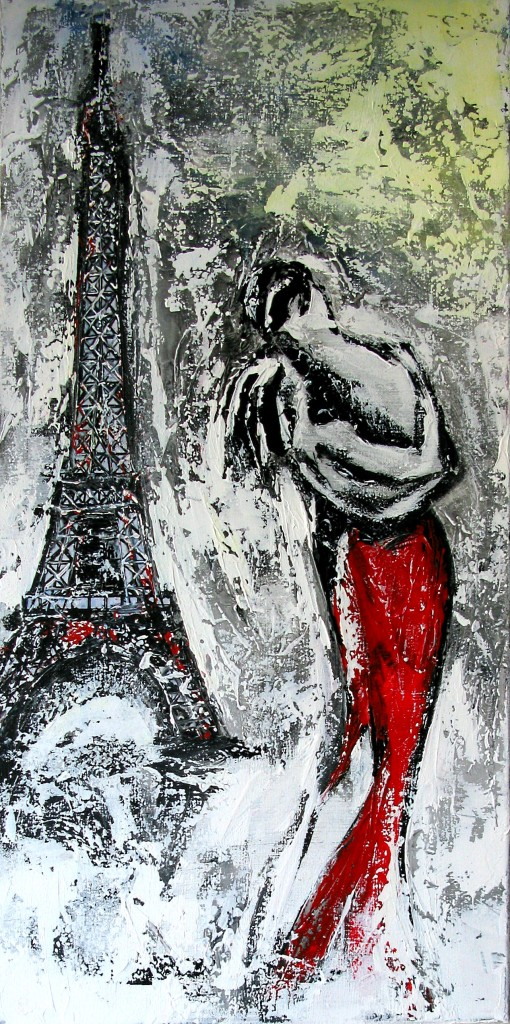 Acryl auf Leinwand, Größe: 100 x 40 cm