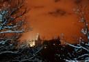 Zamek Książ i park w zimowej szacie