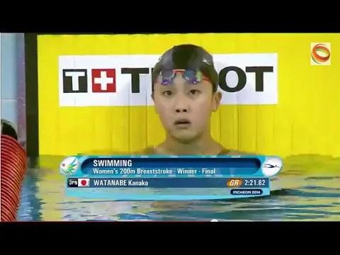 2014アジア大会女子200m平泳ぎ