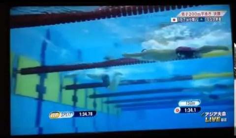 2014アジア大会男子200m平泳ぎ