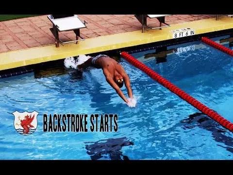 背泳ぎのスタートの秘訣