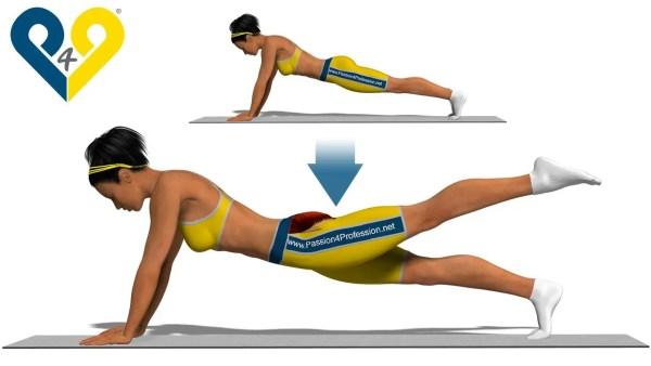 水中姿勢を良くするために体幹とお尻を同時に鍛えるトレーニング