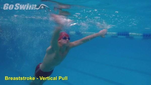 平泳ぎのプルを強化する為の『バーティカルプル』