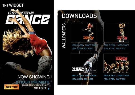 Dance Widget and Downloads