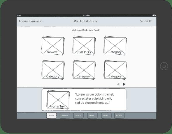 iPad App for retail catalog