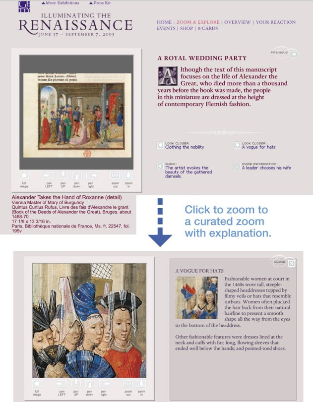 """A Royal Wedding Party"" zoom & explore interface"