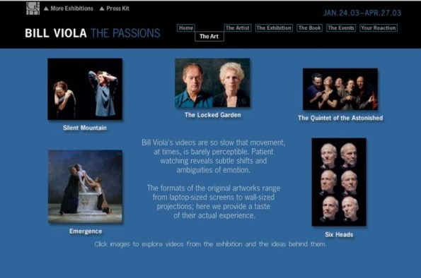 Getty Museum Bill Viola, The Passions