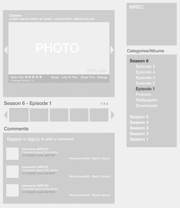 Photo Gallery Wireframe