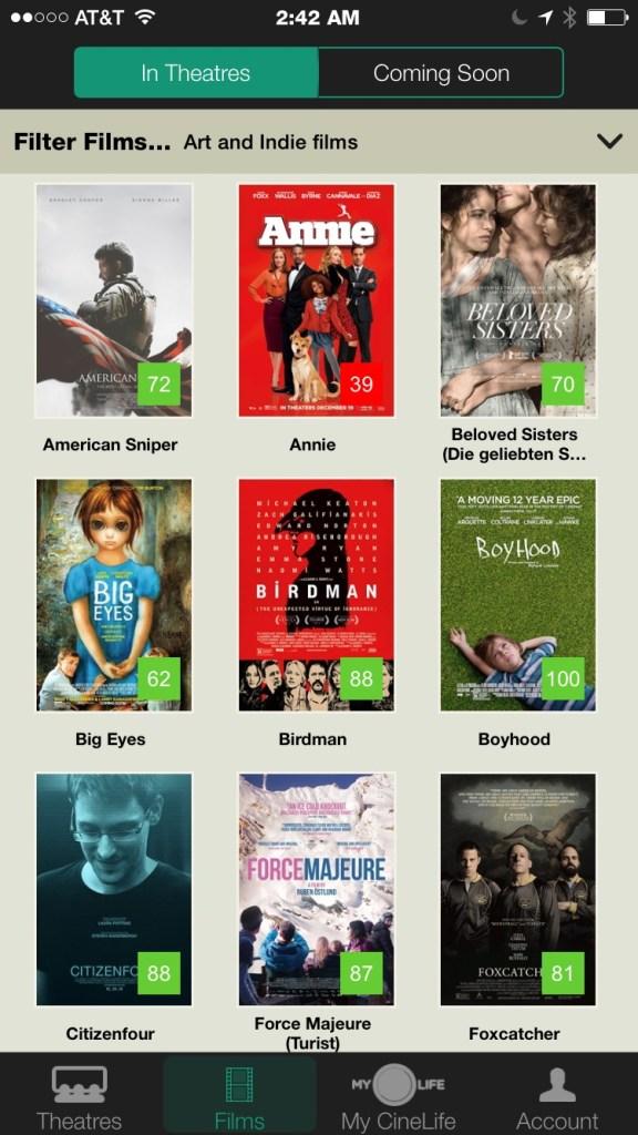 Movie Listings & Scores