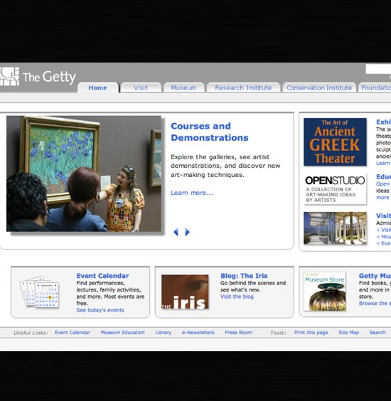 Getty Web Redesign