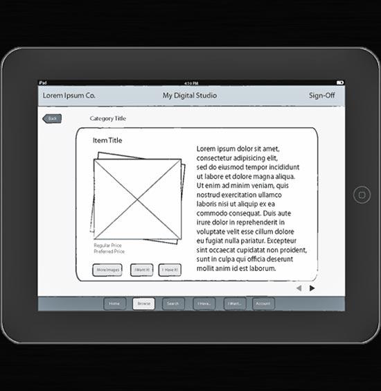 Retail Catalog App for iPad