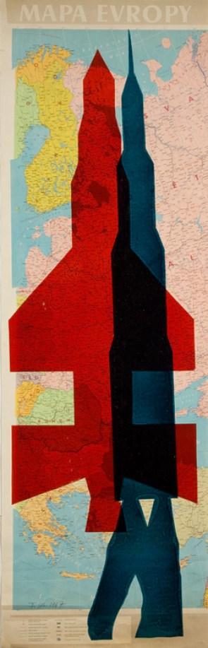 Stano Filko, Serigrafia zo série Mapy. 1967.