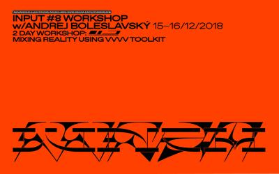 Andrej Boleslavský – Mixing Reality Using VVVV Toolkit (Workshop)
