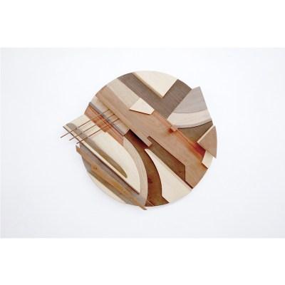 Nude-Escultura-de-pared.-Nogal,-Sapeli,-Wengue,-Cedro-rojo,-Roble,-Ramin,-Pino-,-Teca-y-acero-inoxidable.-64-x-57-x-8-cm.-3.200-€.