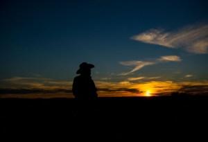 profile-of-s-w-lafollett-at-sunset